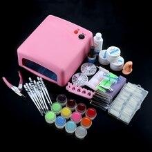 36W Lamp Dryer 12 UV Gel Polish Nail Kit False Tip Clipper Manicure Nail Extension Nail Tools Kit UV Gel Vanishes Kit цены
