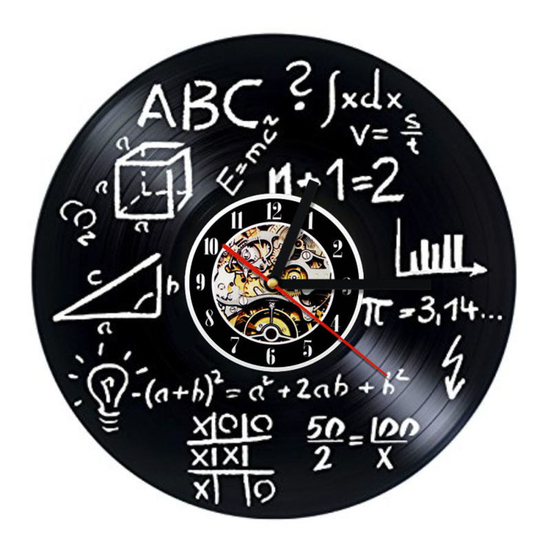 Kreatif Rumus Matematika Rekam Jam Geometris Vinyl Jam Dinding 3D Retro  Decor Handmade Dekorasi Rumah Tergantung Jam di Wall Clocks dari Rumah    Taman ... 4fcc5f73d1