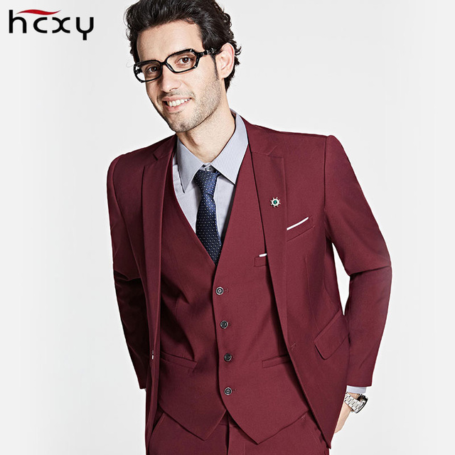 HCXY2017 Brand Mens Suits Wedding Groom Plus Size 6XL 3 Pieces ...
