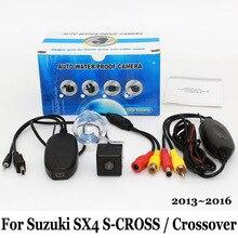 Для Suzuki SX4 S-CROSS/Кроссовер 2013 ~ 2016/RCA AUX Провода Или беспроводной/HD Широкоугольный Объектив CCD Ночного Видения/Заднего вида камера