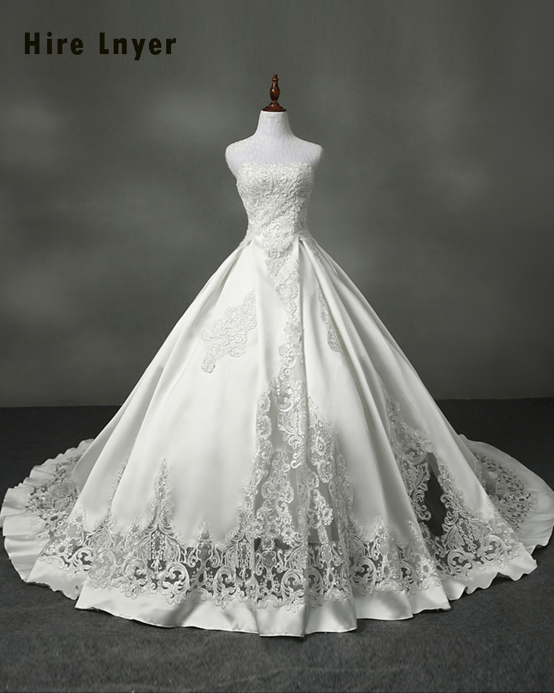 Najowpjg 2018 New Special France Satin Gorgeous Bridal Gowns Vestido ...