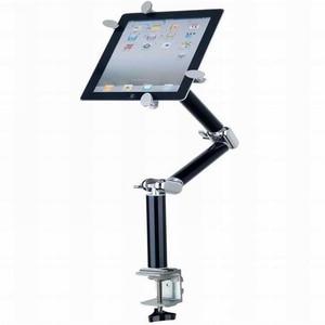 Image 2 - Tablet מחזיק מהדק שולחן מתקפל תכליתי רכב Stand אלומיניום 360 סיבוב קיר הר מיטת סוגר עבור iPad אוויר מיני 7 11