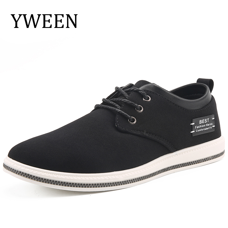 YWEEN Men Breathable Sneakers Men s Casual Shoes Autumn Spring Fashion Boat  Shoes Comfortable Light Leather Flat Men Shoes e434e8b90
