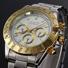 купить Mens Watches Brand Luxury Automatic Mechanical Watch Men Full Steel JARAGAR Business Waterproof Sport Watch Relogio Masculino по цене 1414 рублей