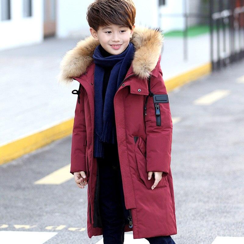 7e3898503 30 Degree High Quality Boy s clothing Children winter Down jacket ...