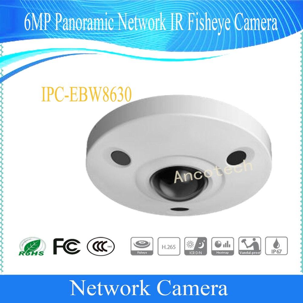 Free Shipping DAHUA Security IP Camera 6MP Panoramic Network IR Fisheye Camera IP67 IK10 Without Logo IPC-EBW8630 free shipping dahua cctv camera 4k 8mp wdr ir mini bullet network camera ip67 with poe without logo ipc hfw4831e se