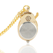 Retro Gold Cute Beetle Quartz Pocket Watch Mechanical Pendant Necklace Chain Clock Gifts GDD99