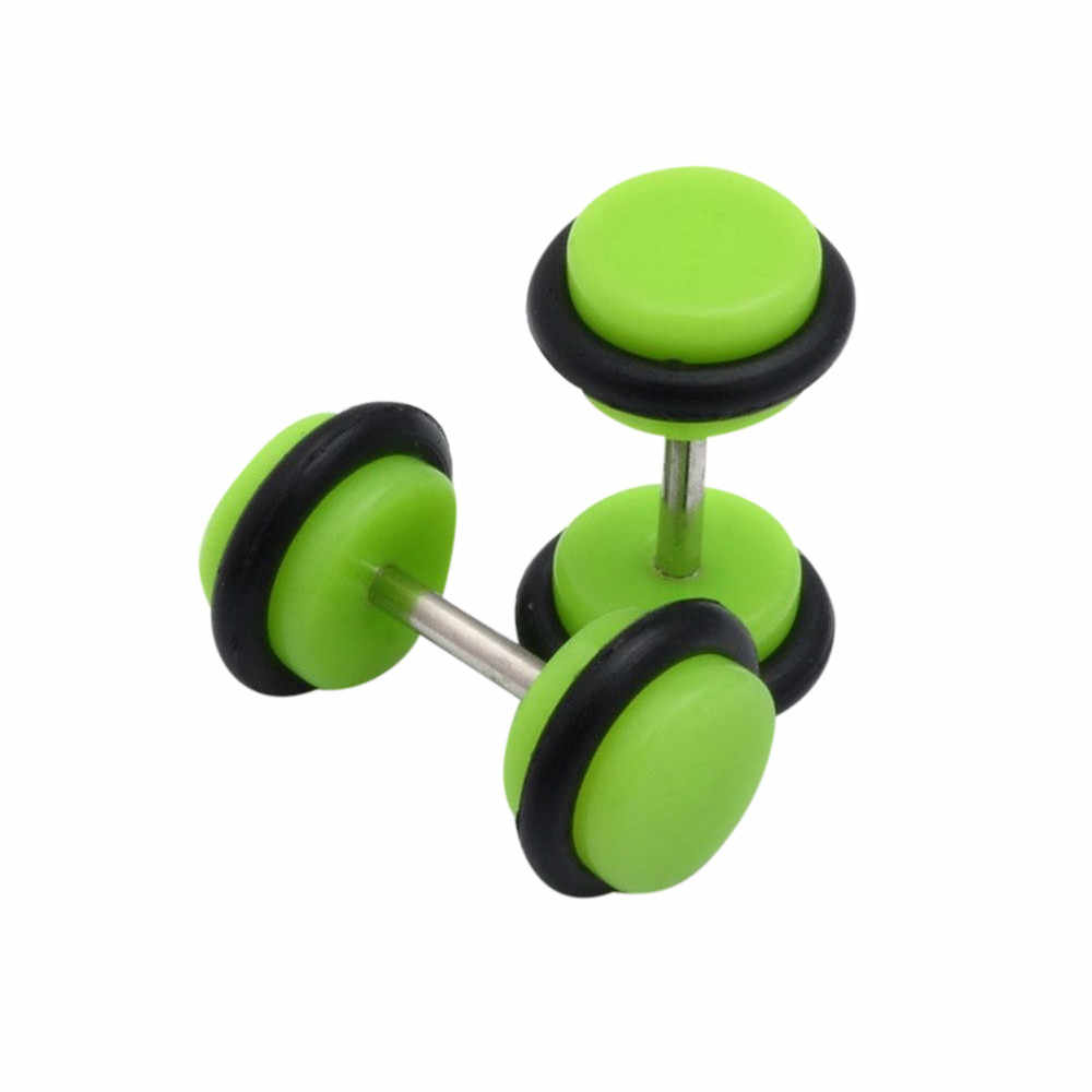 100% nowy kryształ 2 sztuk akrylowe fałszywy oszust uszu nosze Expander Plug tunel brzana kolczyki Ear expender korki Dropship