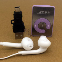 Mini Sport Clip MP3 Music Players with multi-function Earphones USB Cable