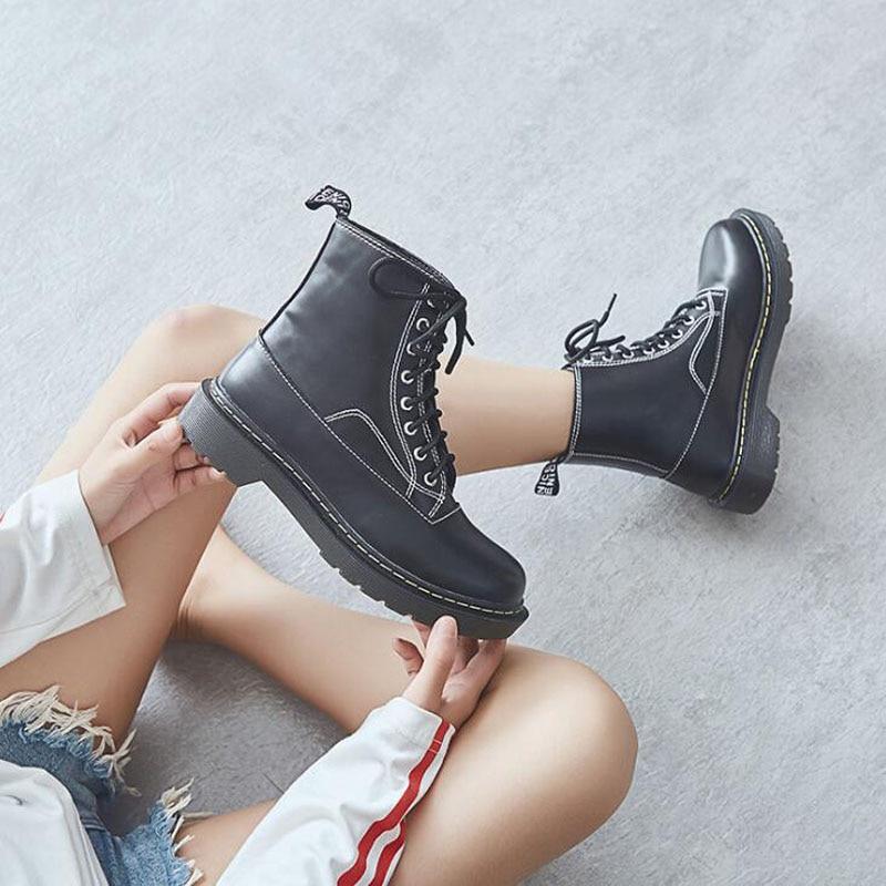 Bottes Cmsolo Chaud Sauvage Femme Rome Nouvelle Boots plush Boot Courte Martin Femmes Étudiants Botte Chaussures Single Et Automne Noir D'hiver Qualité rrEwF4q