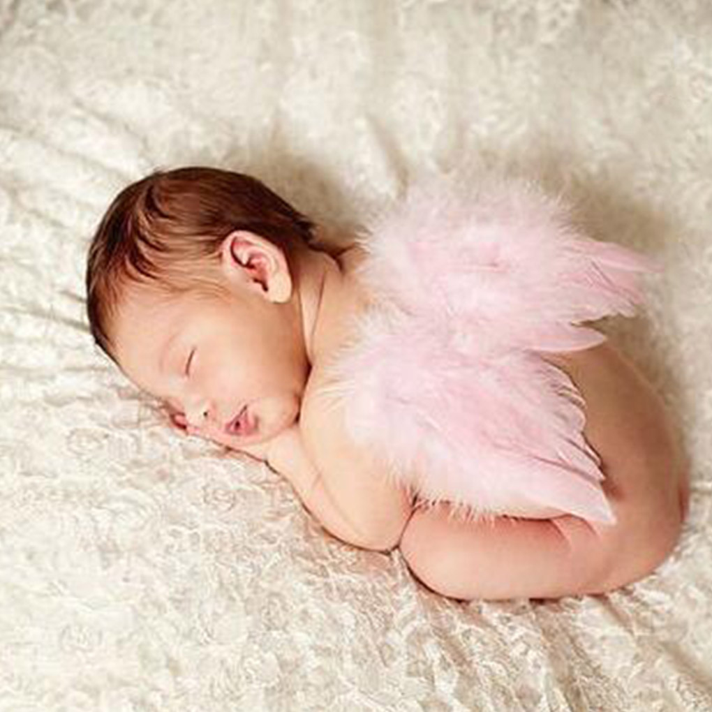 Baby Photography Feather Angel Wings Newborn Photo Props Flowers Headband