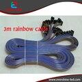 3 м 9.8ft 16pin цвета радуги hub плоский кабель для крытый и открытый светодиодный дисплей