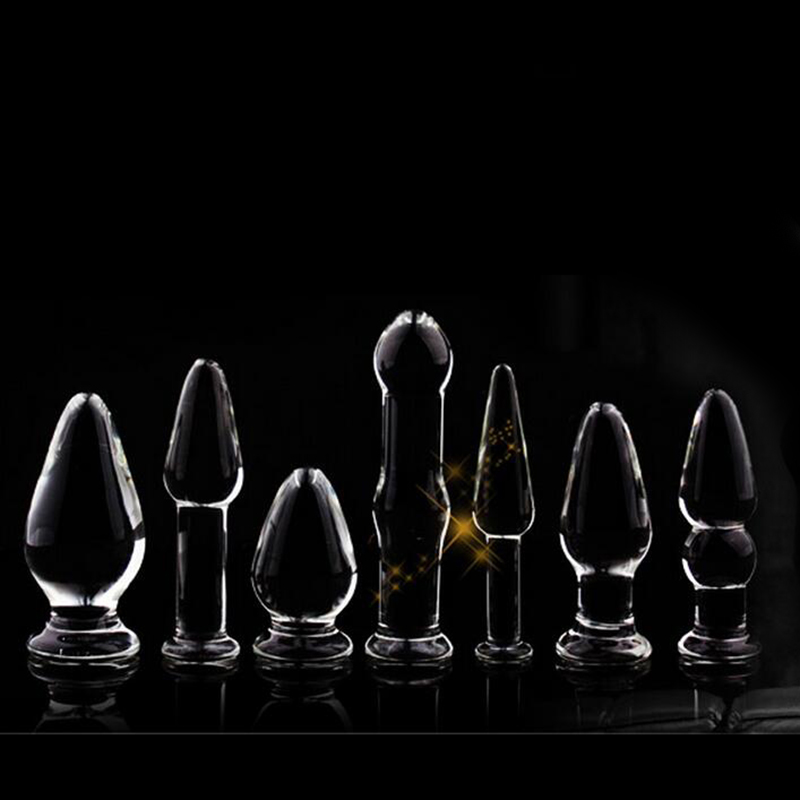 7 Kinds Anal Dildo gay Sex Toys Butt Plugs dildo Anal Toys Glass Anal Plug for Women Men Adult Sex Products erotic toys games 19 9cm big penis anal butt plug toys large silicone anal beads plug dildo erotic gay anus sex toys sex products for men women