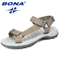 BONA New Hot Style Men Sandals Anti Slippery Summer Shoes Men Light Weight Slippers Male Flat Heels 39.2