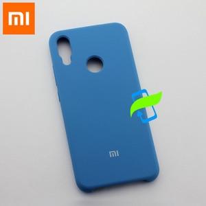 Image 2 - Xiaomi redmi capa de silicone líquido para celular, capinha protetora para xiaomi mi 9 pro max3 pocophone f1 a2 lite capa traseira