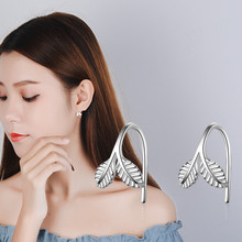 Everoyal Pure 925 Sterling Silver Earrings For Women Party Accessories Trendy Leaf Design Girls Earring Female Princess Jewelry
