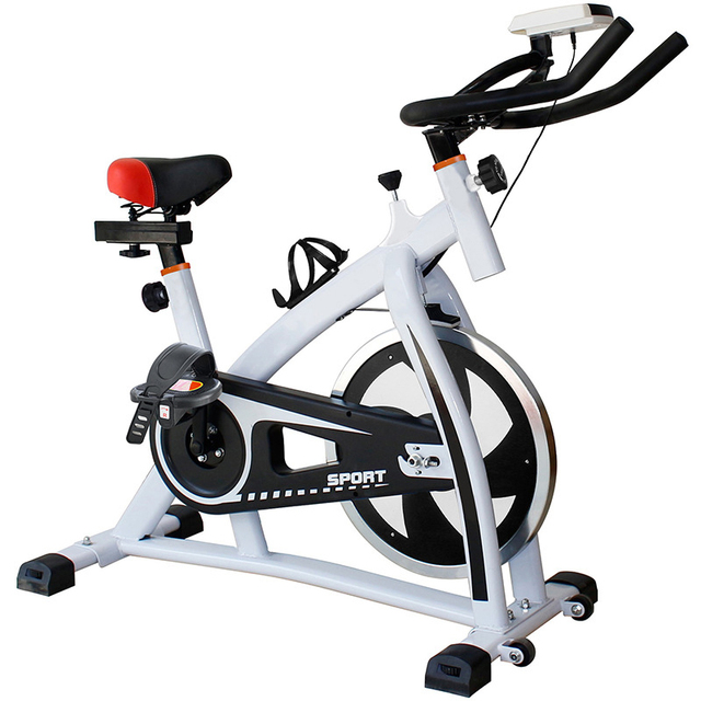 Spinning Bike Adjustable Seat Big Wheel LED-display Home Machine Indoor Gym Exercise Equipment