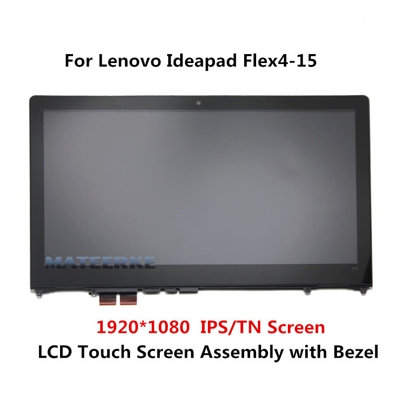 with Bezel FHD LED LCD Touch screen Digitizer Display Assembly for Lenovo Lenovo Flex 4 15 Flex 4-1580 80VE Flex 4-1570 80SB for apple 4 lcd display touch screen digitizer assembly replacement parts for iphone 4 battery housing cover