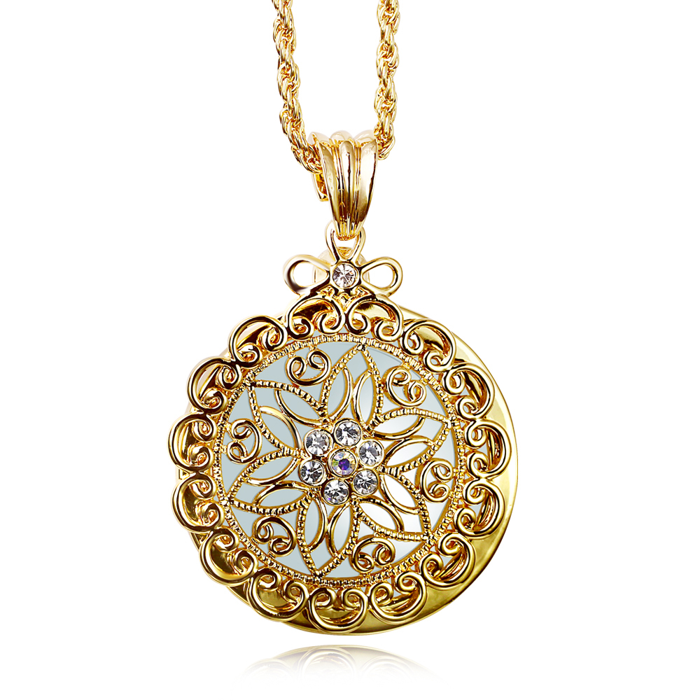 Necklace pendant design gold images necklace pendant design gold images women long necklace pendant 2x magnifying reading glass gold color jpg aloadofball Choice Image