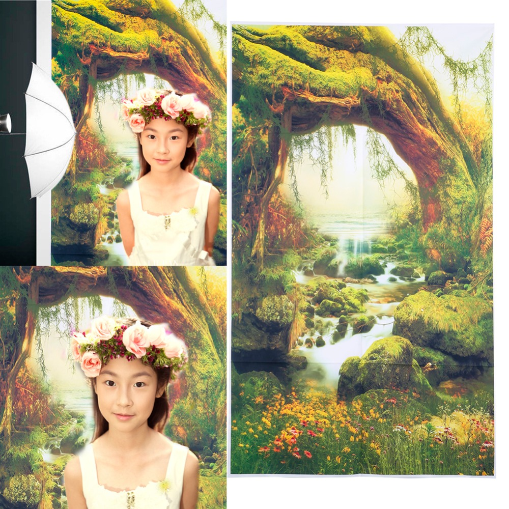 3x5FT Forest Fairy Tale Nature Vinyl Photography Background Backdrop Studio Prop christmas background pictures vinyl tree wreath gift window child photocall fairy tale wonderland camera photo studio backdrop