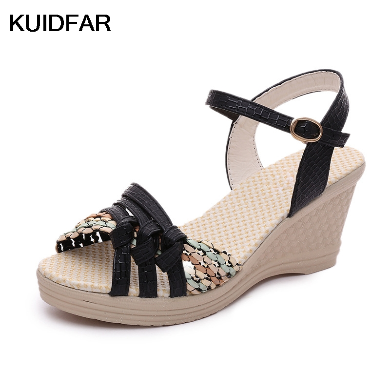 Women Sandals Wedges Gladiator Sandals Shoes Woman Bohemia Fashion Open Toe Platform Sandals Casual Summer summer wedges shoes woman gladiator sandals ladies open toe pu leather breathable shoe women casual shoes platform wedge sandals
