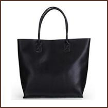 Black shopping bag for women