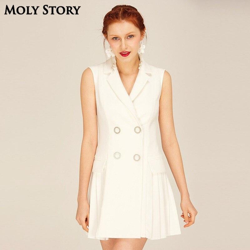 Super! Señoras pequeña chaqueta blanca vestido backless atractivo plisado  partido corto Vestidos delgado del vestido mujeres en Vestidos de La ropa  de las ... 4143c94cac056