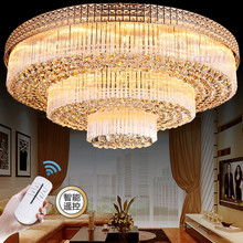 Modern Luxury Chandeliers Crystal LED Living Room Droplight Diameter 100CM Contains Bulbs