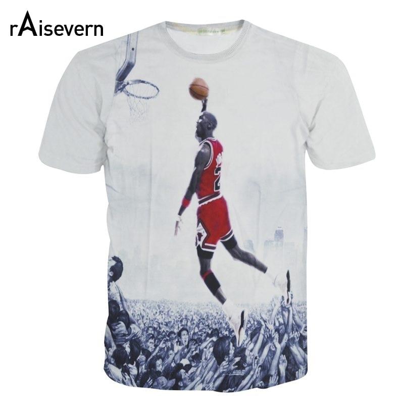 6804fb13886 Raisevern New 3D T Shirt Jordan The Last Shot Men Women Short Sleeve Tee  Top Crewneck T shirt Summer Style Casual Tops-in T-Shirts from Women's  Clothing on ...