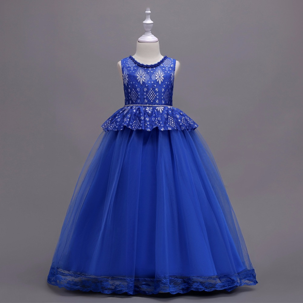 Tammy Ada Children Clothes Girls Lace Princess Dress For -8634