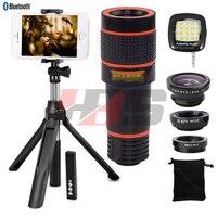 Fisheye Wide Angle Macro Lentes 8X Zoom Lens Telescope Telephoto Lenses Tripod Monopod Shutter For Xiaomi