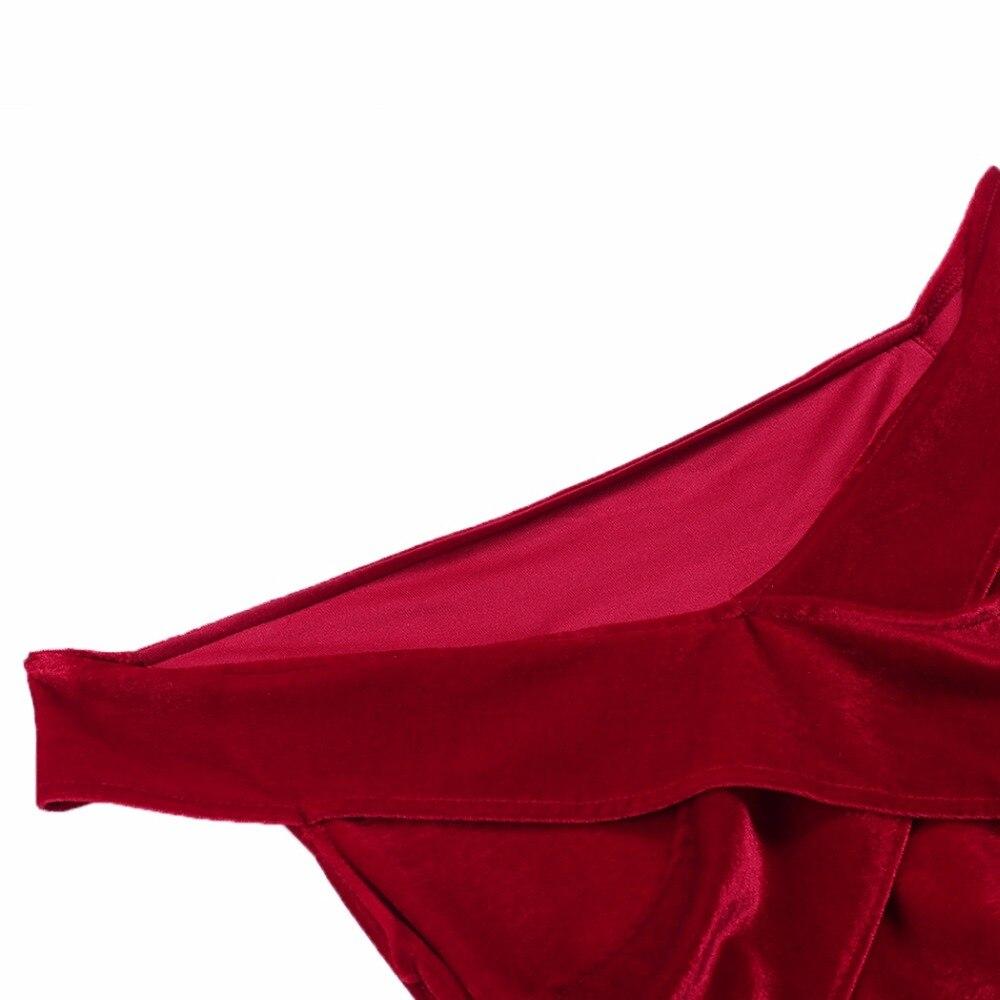 ba028ff938c Women Sexy Red Velvet Dress Off Shoulder Bodycon Irregular Mini Dress  Sheath Sexy Club Dress -in Dresses from Women s Clothing on Aliexpress.com