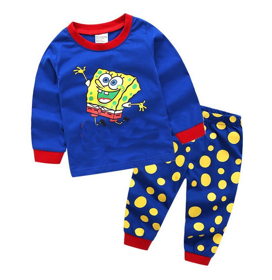 4fe806ca2 2018 Conjunto De Pijamas Para Niños Bebés Niñas Niños Dibujos