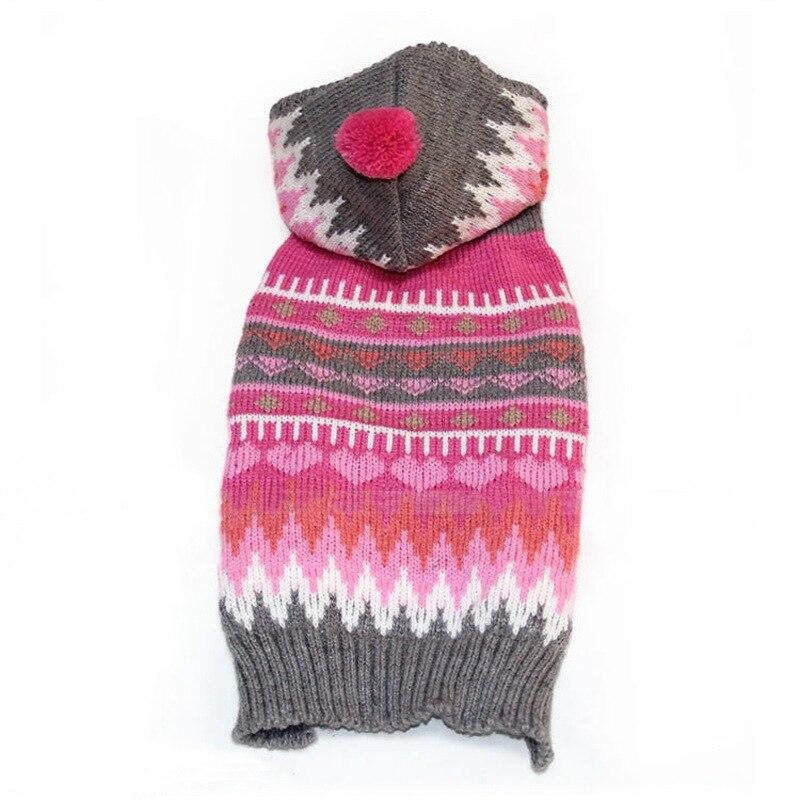 Vánoční sladké pruhované podzim / zima Akrylová vlákna Květ Snowflake Pes svetr Móda Malé pes Oblečení pro psy