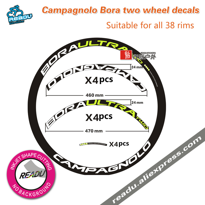 Campagnolo Bora two wheelset stickers height rims 38mm ...