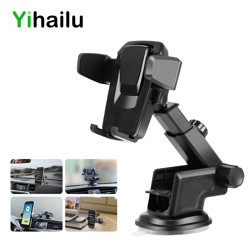 Car Phone Holder Universal Sticky GPS Support Suction 360 Rotate Adjustable 3.5-6 inch Bracket For iPhone Samsung Houder Titular