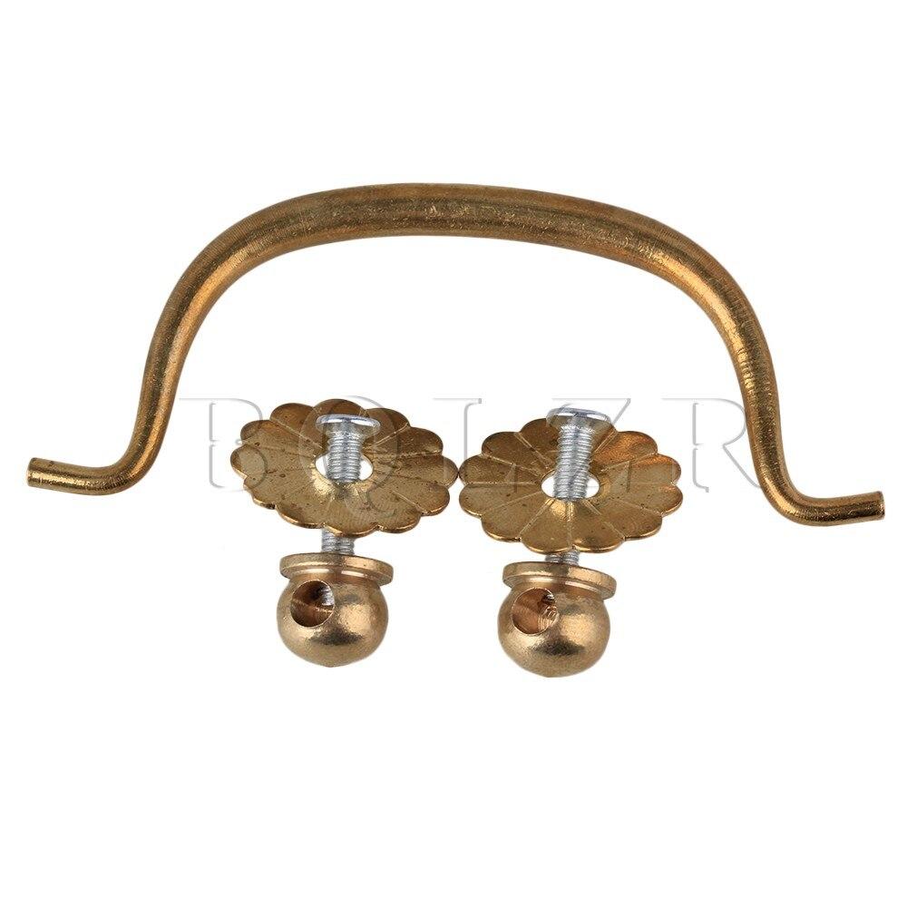 BQLZR Mini Classic Brass Cabinet Drawer Drop Pulls Cupboard Knobs Handle