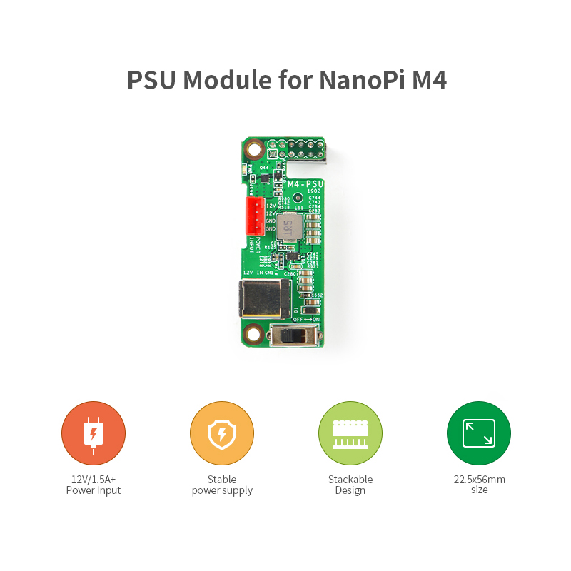 Nanopi M4-PSU 12V Power Extension Board Support Nanopi M4