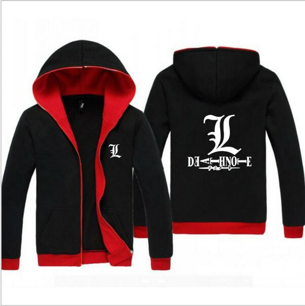 Unisexe Vêtements À Sweat Hong Nouveau Manteau Death Capuche Veste Et Casual Anime 00 Rouge Noir Note 0U7nq