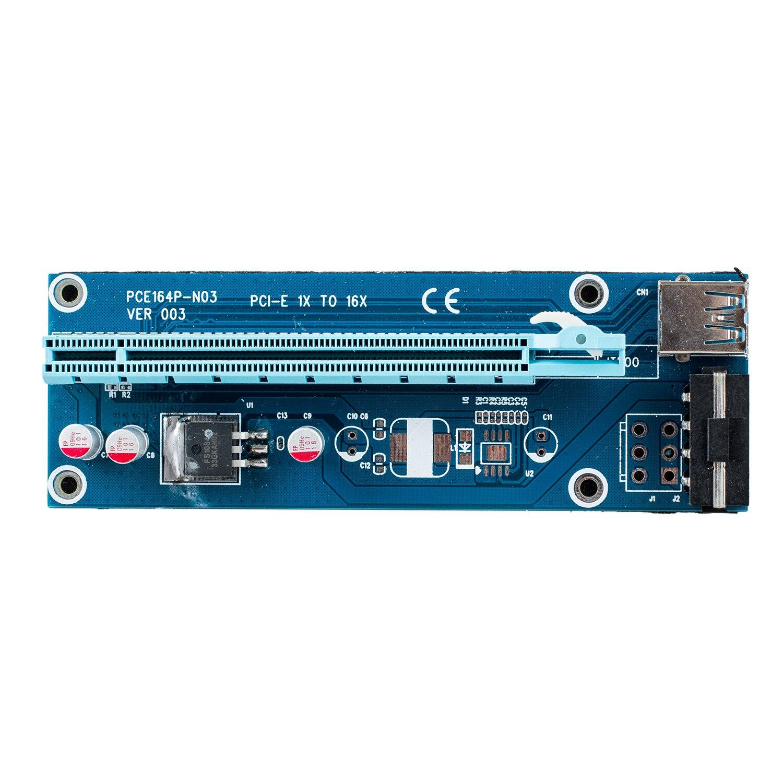 USB 3.0 PCI-E Express 1x to 16x Extender Riser Card Adapter Bitcoin Litecoin