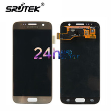"""Warranty 5.1"""" Super AMOLED Screen for SAMSUNG Galaxy S7 LCD Display G930 G930F SM-G930 Touch Screen Digitizer Replacement Parts"""