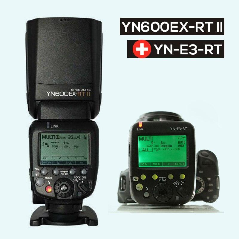 Ulanzi Updated YONGNUO YN600EX-RT II Auto TTL HSS Flash Speedlite +YN-E3-RT Controller for Canon 5D3 5D2 7D Mark II 6D 70D 60D updated yongnuo yn600ex rt ii auto ttl hss flash speedlite yn e3 rt controller for canon 5d3 5d2 7d mark ii 6d 70d 60d 650d