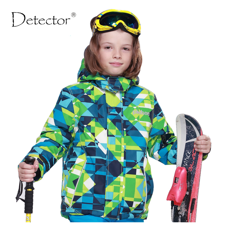 Detector Children Winter Ski Jacket Boys Snowboard Jackets Waterproof Windproof Snow Jacket Outdoor Warm Breathable Coat