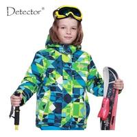 Detector Children winter ski jacket Boys snowboard jackets waterproof windproof snow jacket outdoor warm breathable coat