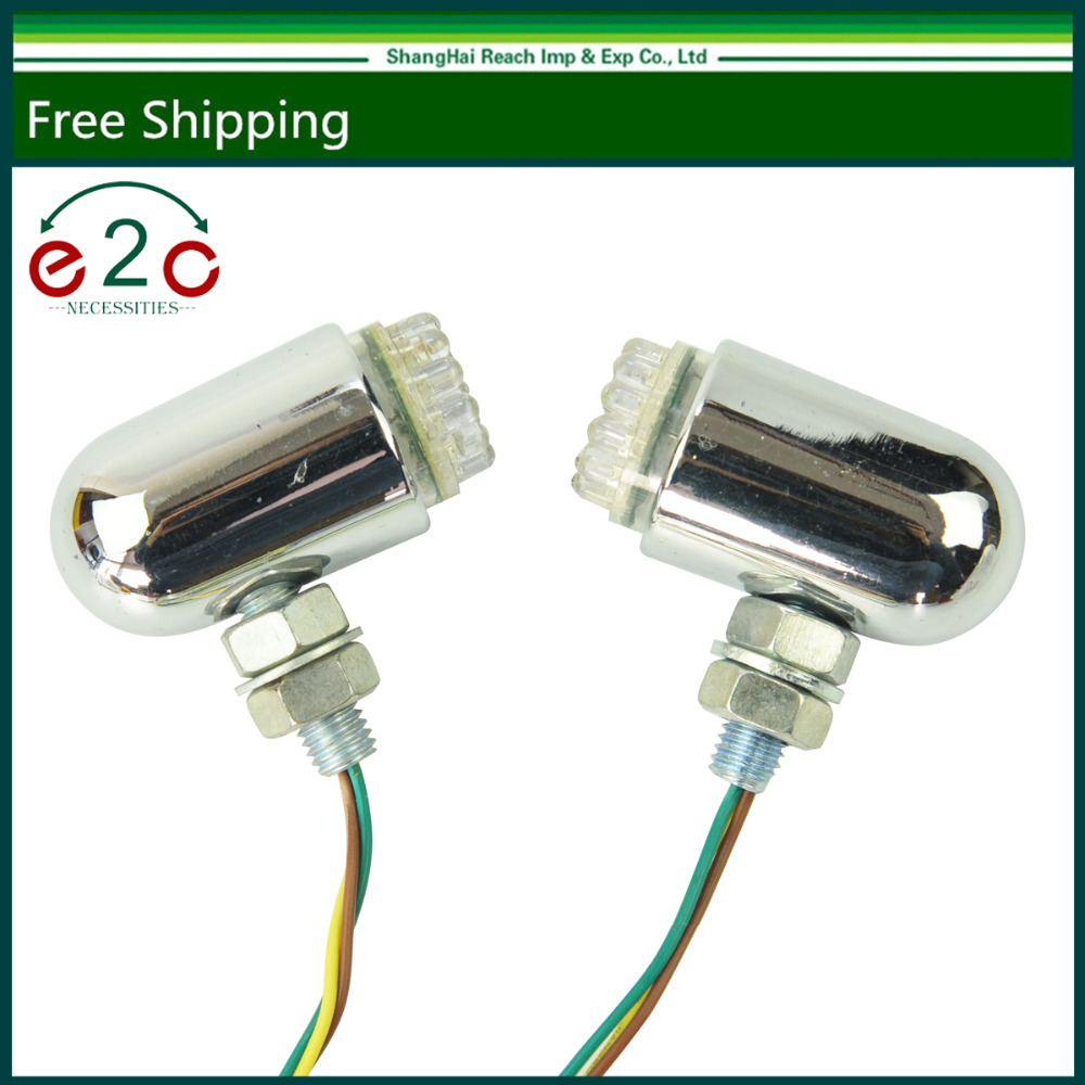 2 Pair Front Rear Motorcycle Turn Signal Led Light Bright Lamp Fits for HARLEY купить
