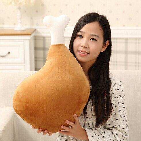 1pc 60cm Creative Chicken Leg Plush Toy Pillow Stuffed Doll Cushion Interesting Gift for Girls Kids Toy