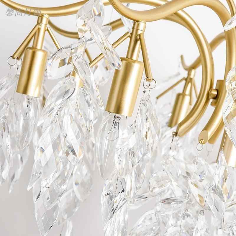 Классический хрустальная люстра настенный светильник золото кристаллический бра светодиодный фойе гостиная прикроватные стекла, хрустальные бра