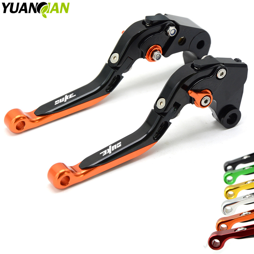 Motorcycle Accessories CNC Aluminum Folding Extendable Brake Clutch Levers For KTM Duke 125 200 Duke125 Duke200 390 690 Duke for gilera gp 800 2007 2009 motorcycle accessories cnc aluminum folding extendable brake clutch levers black
