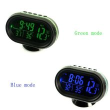 Car Clock Electronic Thermometer Luminous Multi-function car temperature clock voltmeter