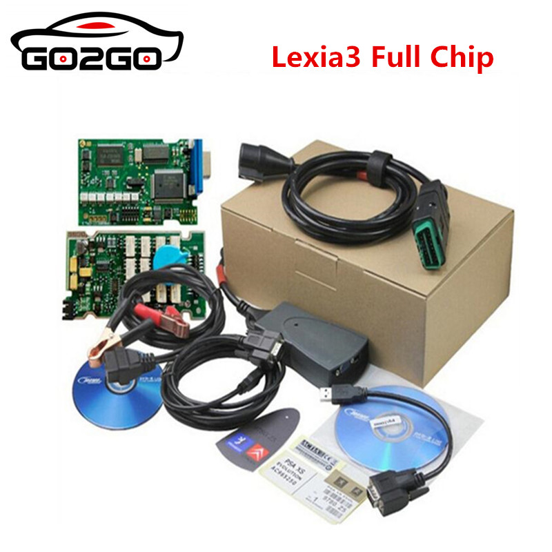 Best Lexia 3 Full Chip Lexia3 V48/V25 Newest Diagbox V7.83 PP2000 Lexia-3 Firmware 921815C for P-eugeot/C-itroen Diagnostic Tool